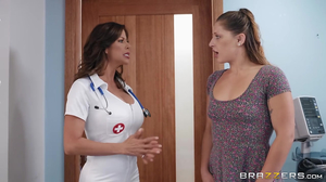 Sweaty hospital fucking with a horny Latina doctor