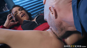 Brutal office banging with a busty brunette beauty