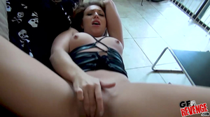 Curvy young slut takes on a big white dick in POV