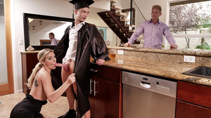 He finished college and his mom lets him fuck her