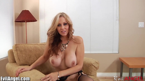 MILF with blue eyes getting down and sucking him